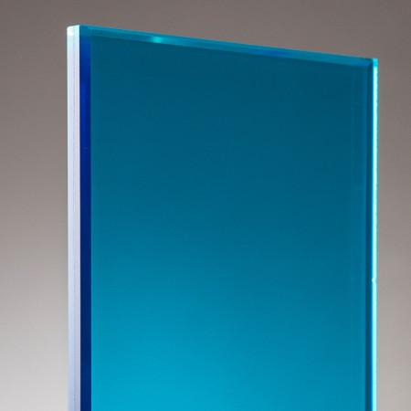 vidrio laminado azul