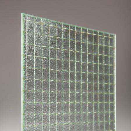 vidrio armado de 6 mm