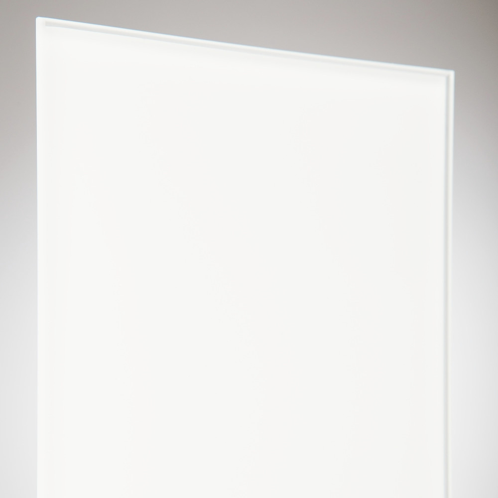 vidrio monolitico Lacobel Pure White Blanco RAL-9003