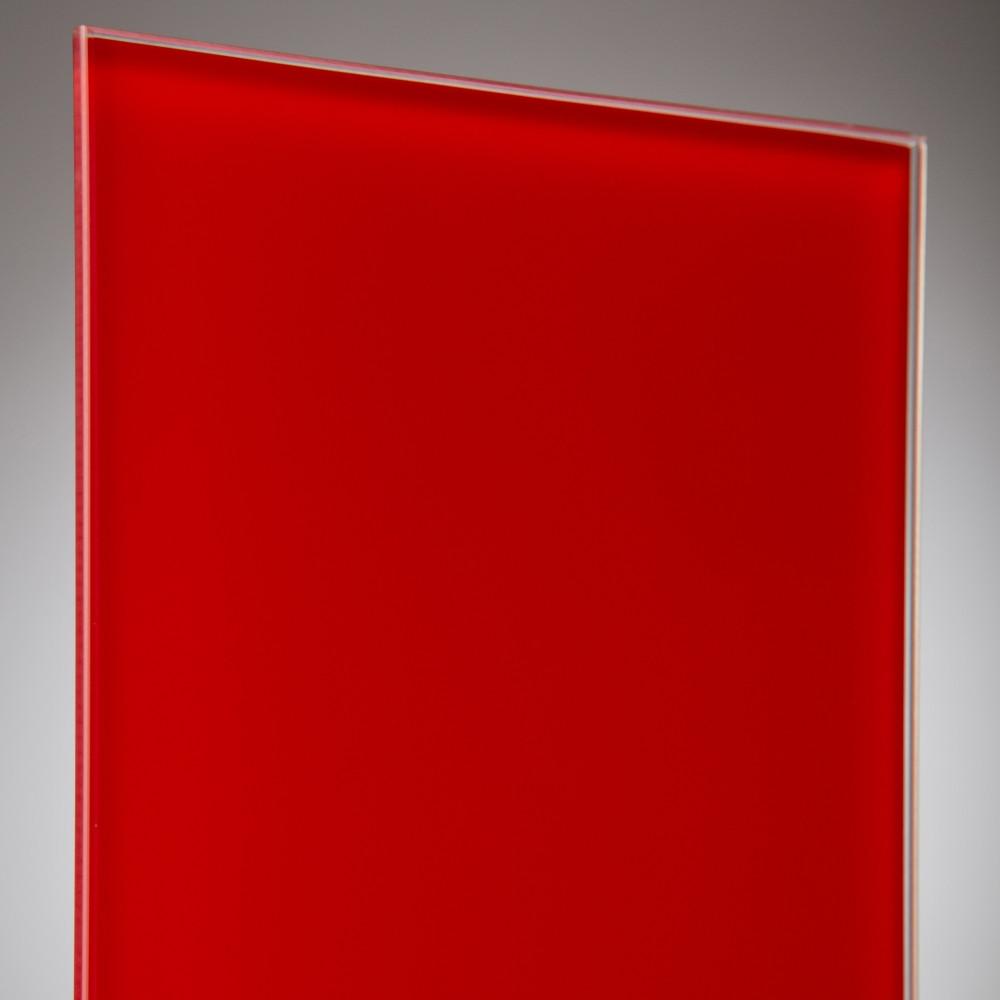vidrio monolitico Lacobel Rojo RAL-1586