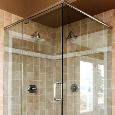 Glass Shower Screens Secured with stainless steel