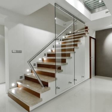 Walls Glass Partitions Fastened with stainless steel