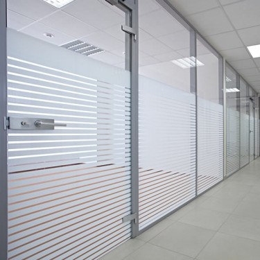 Walls Glass Partitions Secured with stainless steel